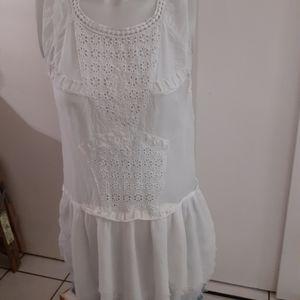 Free people lace crochet tank tunic angel